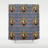 shakespeare Shower Curtains featuring William Shakespeare by Glenn Designs