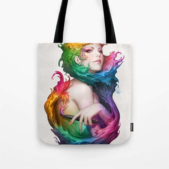 Angel of Colors Tote Bag