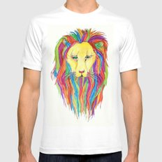 Dandy Lion MEDIUM Mens Fitted Tee White