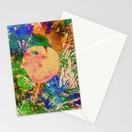 Mushrooms and Mulch Abstract Stationery Cards