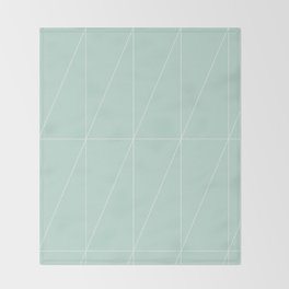 Mint Triangles by Friztin Throw Blanket