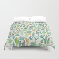 cactus Duvet Covers featuring Cactus by Abby Galloway