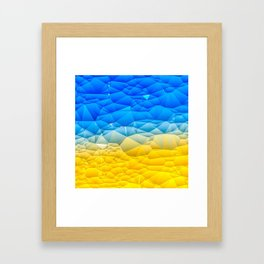 Sunshine and Blue Sky Quilted Abstract Framed Art Print