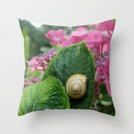 marcel the shell Throw Pillow