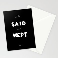 What can not be said will be wept - Sappho Stationery Cards
