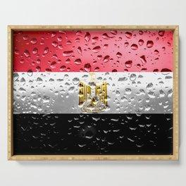 Flag of Egypt - Raindrops Serving Tray