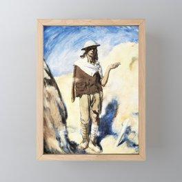 A Man with a Cigarette - Sir William Orpen Framed Mini Art Print