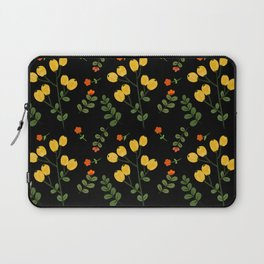 Wild Yellow Berry Fruit And Flower  Laptop Sleeve