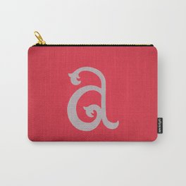Lowercase A Carry-All Pouch