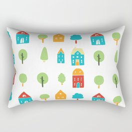 Trees and houses Rectangular Pillow