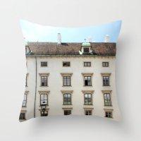 vienna Throw Pillows featuring Vienna  by Blake Hemm