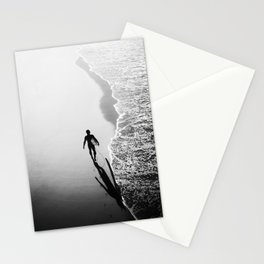 California Surfer Walking the Shore Stationery Cards