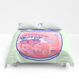 Strawberry Rain Comforters