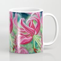 lily Mugs featuring lily by Beth Jorgensen