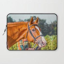 Horse head photo closeup Laptop Sleeve