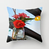 outdoor Throw Pillows featuring Outdoor Decor by Kim Ramage