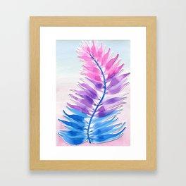 Bi Fern Framed Art Print