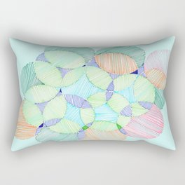 Circles and lines Rectangular Pillow