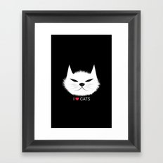 PERSONALITY OF A CAT Framed Art Print