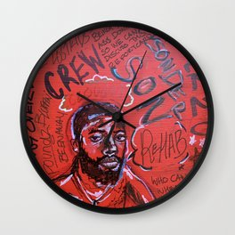 sonderson,brent faiyaz,poster,art,wall art,decor,music,rnb,lyrics,colourful,colorful,cool,dope,post Wall Clock