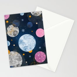 Watercolor Universe Stationery Cards