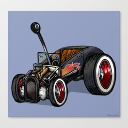 Red-Hot Ford Roadster - Color Canvas Print