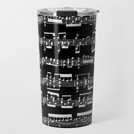 Sheet Music // Black Travel Mug