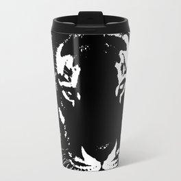 Black n white tiger Travel Mug