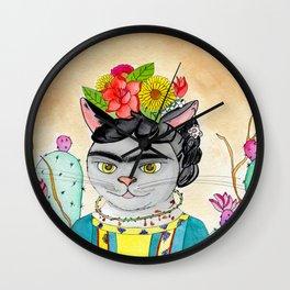 Kitty Kahlo Wall Clock