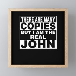 I Am John Funny Personal Personalized Fun Framed Mini Art Print