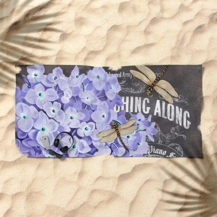 Vintage Flowers #4 Beach Towel