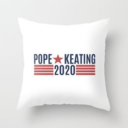 Pope Keating 2020 Throw Pillow
