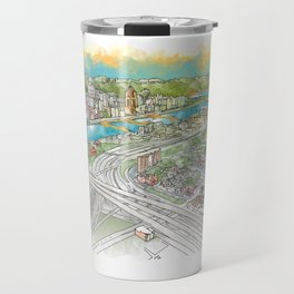 Pittsburgh Aerial Travel Mug