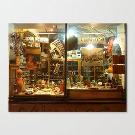 Shop Window, San Telmo, Buenos Aires Canvas Print