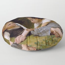 "William-Adolphe Bouguereau ""The Nut Gatherers"" Floor Pillow"