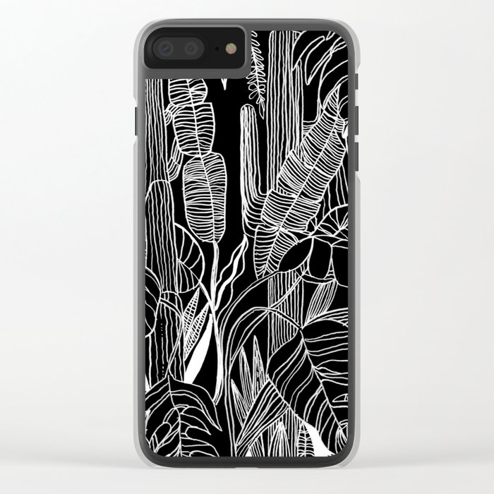 HOME IS WHERE MY PLANTS ARE Clear iPhone Case