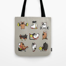 Leg Day with Frenchie Tote Bag