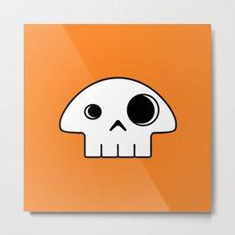 Mushroom Skull Metal Print