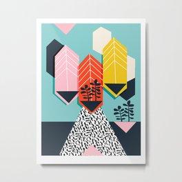Legit - throwback 80s style memphis neon texture art print pop art dorm college hipster trendy urban Metal Print