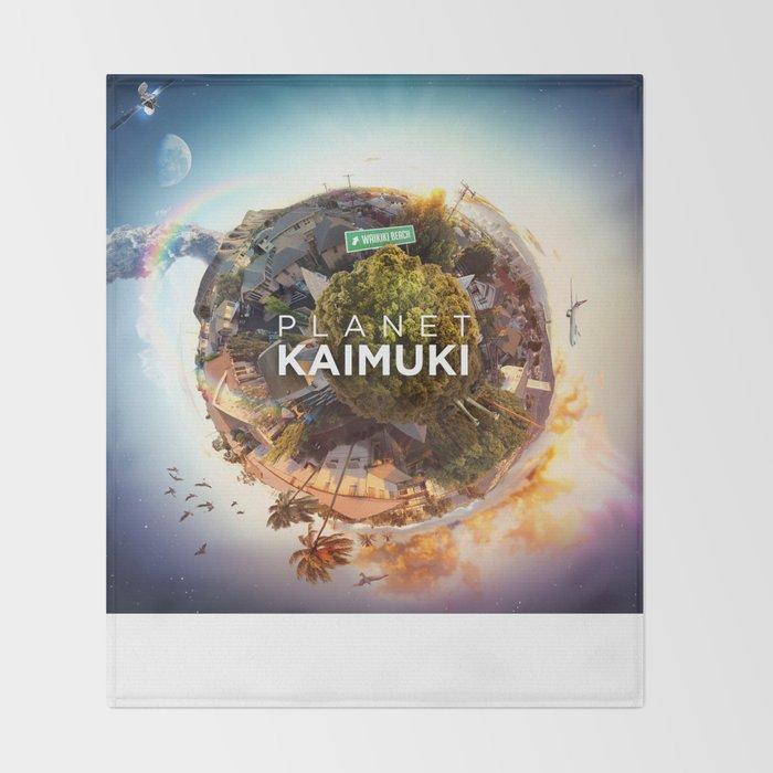 Planet Kaimuki Throw Blanket