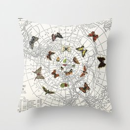 The Buttefly Effect - Antarctic Edition Throw Pillow
