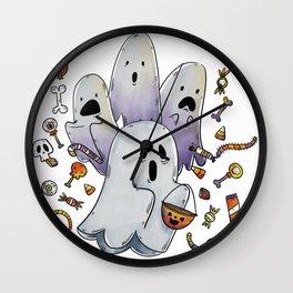 Hallo Ghosts Wall Clock