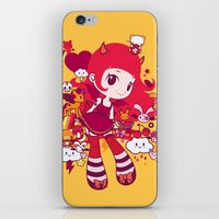 kawaii iPhone & iPod Skins featuring Kawaii by Pamela Barbieri
