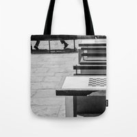 game Tote Bags featuring Game by Sébastien BOUVIER
