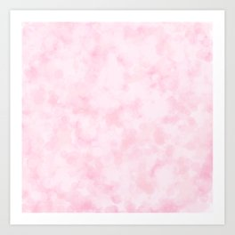 Strawberry Champagne Bubbles - Pale Pink Art Print