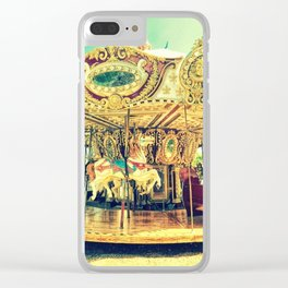 Carousel Merry-Go-Round Clear iPhone Case