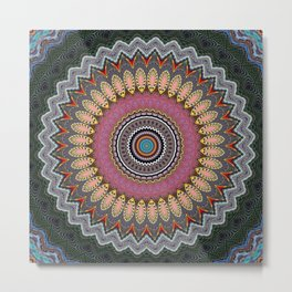 Recreational Maylanta Mandala 10 Metal Print