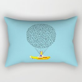 Musical Yellow Submarine Rectangular Pillow