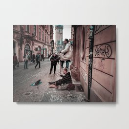 Floating Man Metal Print