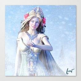 Snow Bride Canvas Print